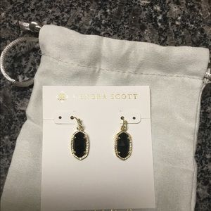 Kendra Scott Black Lee Earrings